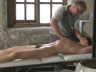great looking homo guy gets bound whilst dad