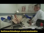 a gay lad machine fucked by doctor