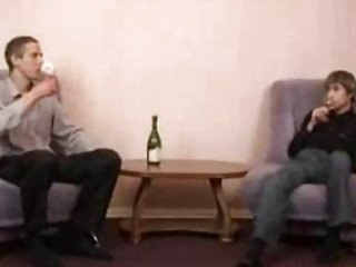 older concupiscent homosexual seduces young drunk