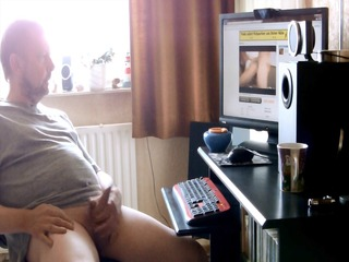 daddy watching a porn
